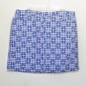 NWT Loft Geometric Patterned Mini Skirt Size 14